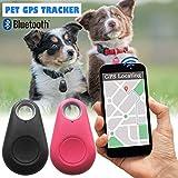 Traceur GPS pour chien et chat - Moniteur d'activité sans fil Bluetooth - Localisateur de clé - Petit appareil de suivi pour chien et chat Noir