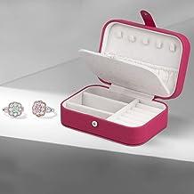 2-warstwowe skórzane pudełko do przechowywania biżuterii wysoka pojemność naszyjnik kolczyk organizer europejski pierścień...