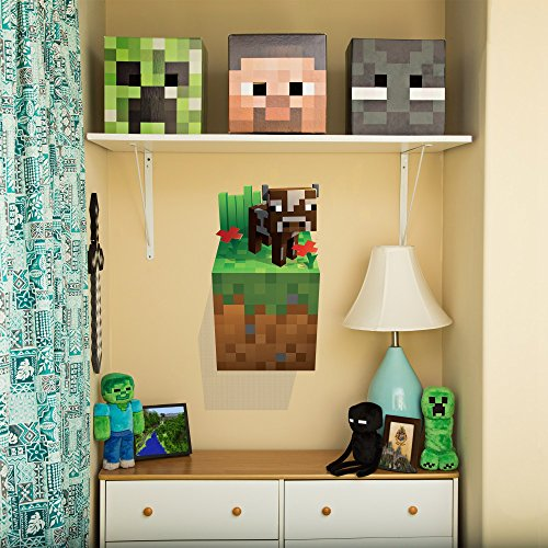 JINX Minecraft Wall Cling Decal Set (Creeper, Enderman, Pig, Cow)