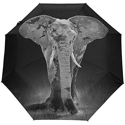 Winddichte Regenschirme für Elefanten Automatisch Öffnen Schließen 3 Faltbare Golf Starke, langlebige, kompakte Sonnensonne Regenschirm-DM-Z9