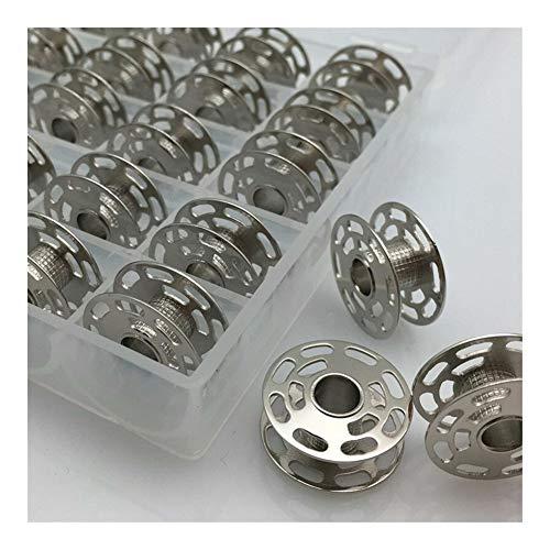 Bigbarry Apropiado 25PCS Bobina bobinas con Clear Box Durable (Color : Silver)