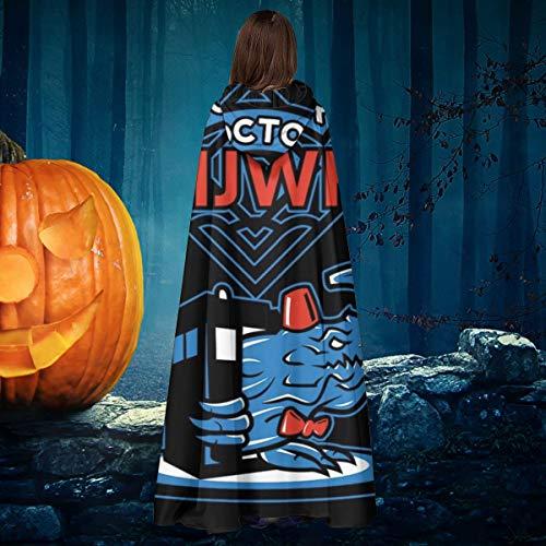 NULLYTG Doctor Kaijwho Pacific Rim Who Unisex Navidad Halloween Bruja Caballero con Capucha Albornoz Vampiros Capa Cosplay Disfraz
