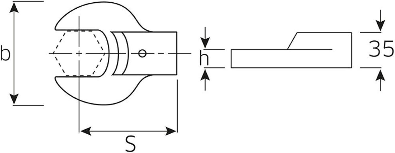 Stahlwille – 731 731 731 80 60 – Spurstange Mund Fi B0079273QQ | Garantiere Qualität und Quantität  3e390e