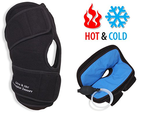 NatraCure Hot/Cold & Air Compression Knee Brace Support - (6022 CAT) - Alleviates Knee Pain from...