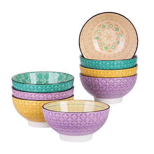 vancasso, Bols à Céréale pour Petit Déjeuner, Bols à Soupe, Riz, Pâtes, Style Japonais (Tulip, 8 Pièces)