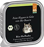 defu - feine Happen in Gelee Bio-Hofhuhn, 16er Pack (16 x 100 g)