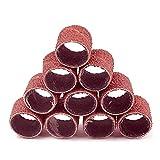 100pcs Solding Drum Set 80-600 Grit con 2pcs 1/8'Shank Sanding Mandrels para d.r.e.m.e.l Herramientas rotativas Herramientas abrasivas Herramientas de lijado Bandas (Color : Brown, Grit : 600)
