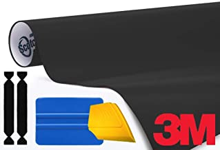 3M 1080 Matte Black Air-Release Vinyl Wrap Roll Including Toolkit (10ft x 5ft)