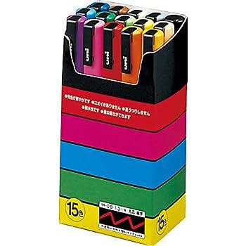 Uni-Posca Paint Marker Pen - Fine Point - Set of 15  PC-3M15C