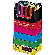 Uni-Posca Paint Marker Pen - Fine Point - Set of 15 (PC-3M15C)