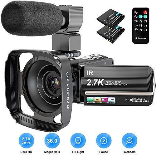 Camcorder, 2.7K Video Camera 36M...