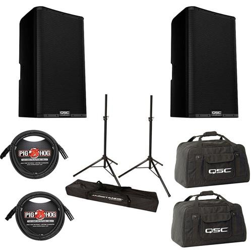 QSC 2x K12.2 K.2 Series 12in 2-Way 2000 Watt Powered Speaker - with 2x 20