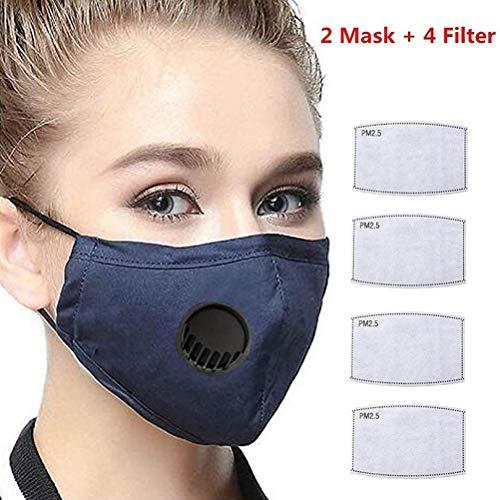 WWJJLL Gesicht Gesundheit Schutz, Staub Gesichtsschutz mit Entlüftungsventil, atmungsaktiv, Anti-Fog, Anti-Pollution Waschbar Gesicht Handtuch ist geeignet für Erwachsene One Size