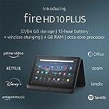 Introducing Fire HD 10 Plus tablet, 10.1' 1080p Full HD display, 64 GB, Slate +...