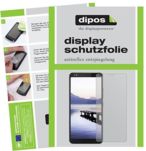 dipos I 2X Schutzfolie matt kompatibel mit Gigaset GS370 Plus Folie Bildschirmschutzfolie