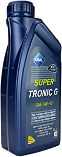 ARAL Motoröl Supertronic G SAE 0W 40 1 L Öl Motorenöl Schmiere Schmierstoff