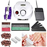 Karpal 30,000RMP Torno Para Uñas Manicura Fresa Profesional Torno Fresadora Set de Manicura y Pedicura Usos en Bricolaje