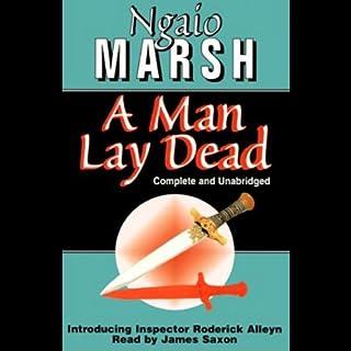 A Man Lay Dead audiobook cover art