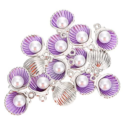 VORCOOL 15 Piezas de Colgante de Concha de Mar para Manualidades Pulsera Collar Pendientes Fabricación de Joyas