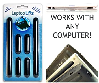 Laptop Lifts - Universal Replacement Laptop Feet Guaranteed To Stay On Until You Take Them Off