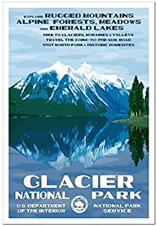 Glacier National Park Poster - Original Artwork - 13