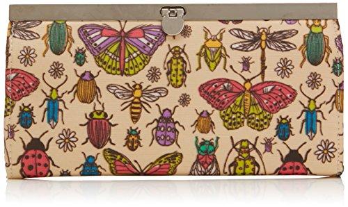 Tiny Love - Borella Butterfly & Bugs Metal Clasp Wallet, Portafoglio da Donna