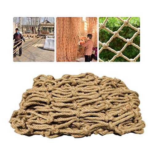 Best Deals! Multi-Functional Child Safety Net Stairs Protection Netting Balcony Anti-Fall Net Railing Garden Kindergarten Wall Decoration Nylon Rope Nets Outdoor Swing Set(Rope 6mm Mesh 8cm) ( Size : 5x5m )