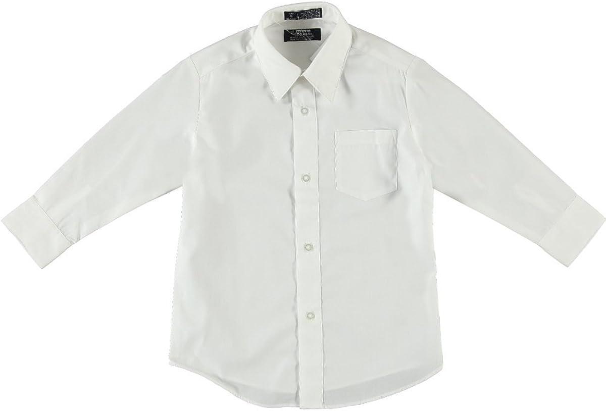 French Toast School Uniform Boys Long Sleeve Classic Dress Shirt, White, 6