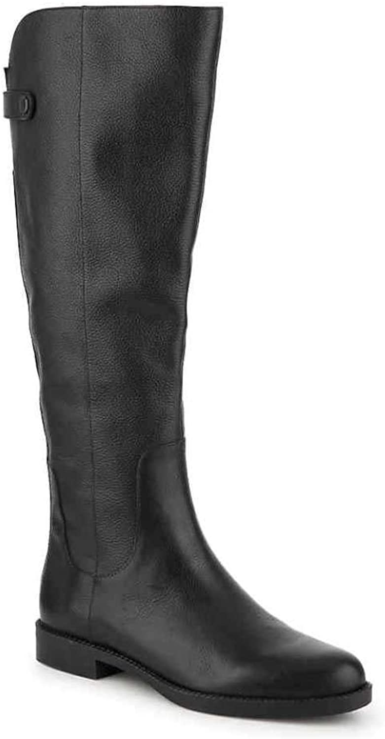 Franco Sarto Womens Castor Leather Closed Toe Over Knee Riding Boots