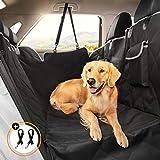 Looxmeer Hunde Autoschondecke Hundedecke für Auto Rückbank und Kofferraum, Wasserdicht Kratzfest und rutschfest mit Sichtfenster, Tragetasche und Sicherheitsgurte, Rücksitzbezüge für Auto, Grau