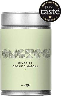 Té Verde Matcha Orgánica en Polvo - Matcha Premium Japonés Grado A lata de 80g - Perfecto para té, café con leche, batidos, helado - Aumenta la energía ...