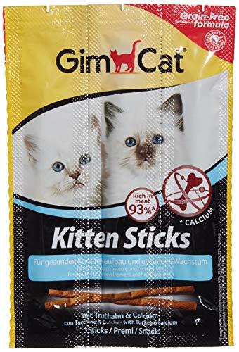 GimCat Sticks Kitten Truthahn - Softer Kausnack mit hohem Fleischanteil und Calcium für gesundes Wachstum - 1 Packung (1 x 3 Sticks)