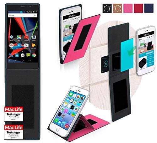 reboon Hülle für Archos 55 Diamond Selfie Lite Tasche Cover Case Bumper | Pink | Testsieger