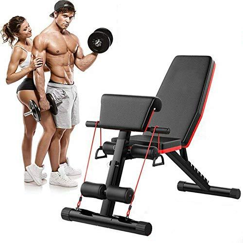 Banco de pesas Tribesigns, banco plegable de entrenamiento c