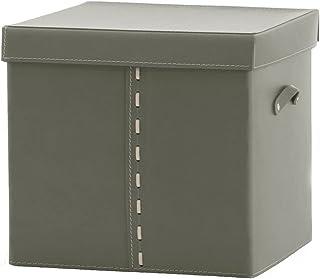 Gavemo GABRY 01, Boîte en Cuir avec Couvercle, Rangement en Cuir, Panier Rangement, Fabriqué par Limac Design®,