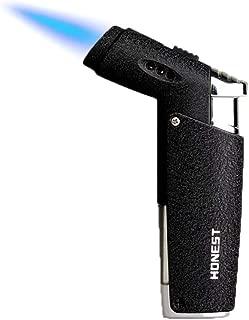 GOLDNCONN Jet Torch Cigar Lighter, Strong Flame Windproof Butane Fuel Cigarette Lighter (Black)
