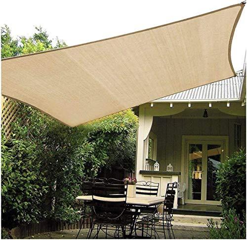 Rechteckiger Sonnendach, HDPE, Rost, mehrfarbig, für den Außenbereich, UV-Schutz, Segel für Terrasse, Hof, Garten, Rasen, Garten, 60 x 152 cm, 3\'x3\'