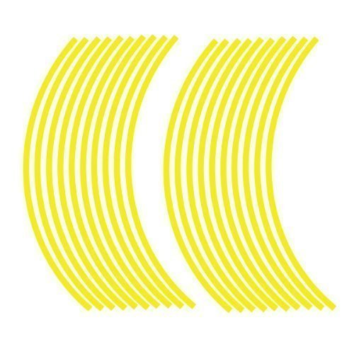 JOllify NEON Felgenrandaufkleber für Dein Fahrrad, MTB, Downhill, Freeride, Dirt, Fully, Hardtail, usw. - neon gelb