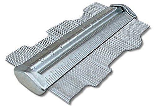 Toolzone - Calibro controllo profilo in metallo, 125 mm