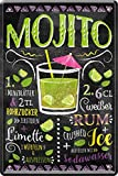 Mojito Rum Cocktail Rezept 20 x 30 cm Bar Party Keller Deko
