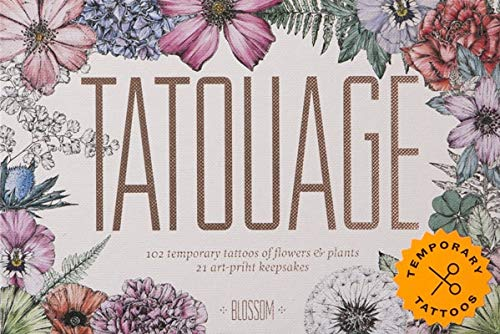 Tatouage: Blossom: 102 Temporary Tattoos of Flowers & Plants and: 102 Temporary Tattoos of Flowers & Plants and 21 Art-Print Keepsakes (Magma for Laurence King)