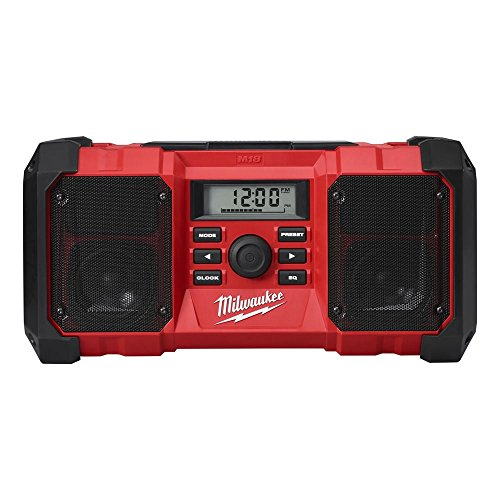 Milwaukee M18JSR-0 Jobsite AM/FM Radio, 40.2cm x 19.7cm x 19.7cm