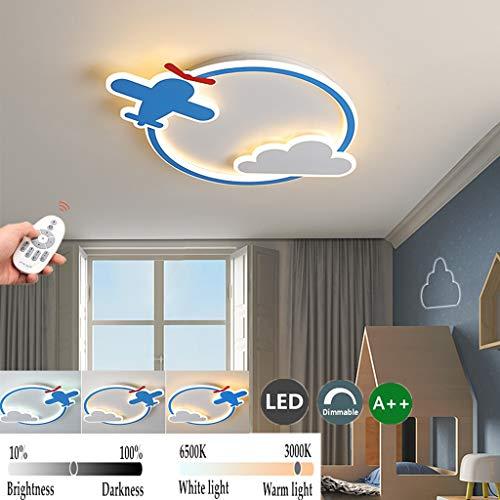MZT Techo LED de la lámpara del Techo de Dibujos Animados avión Azul Claro vivero Techo Creativo Enciende Azul de la Nube del Cielo de Techo Lámparas de Techo Dormitorio iluminación Interior luz,50cm