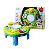 AEROBATICS Musical Lerntisch Babyspielzeug,Früherziehung Spielzeug Music Activity Center Tisch Elektronische pädagogische Kleinkinder Spielzeug Abenteuer Spieltisch für 6 Monate