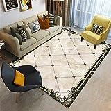 Kunsen Rug Alfombra Carretera Infantil Maqueta Rectangular Beige decoración de la Sala de Estar a Prueba de Humedad alfombras Infantiles Lavables 50x80cm 1ft 7.7' X2ft 7.5'
