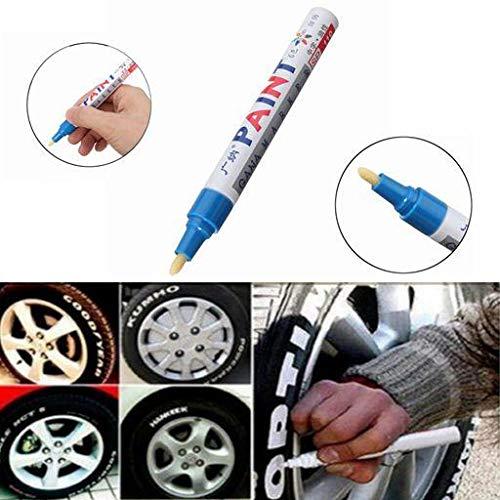 NICOLIE 2 Uds, Color Azul, Neumático, Pluma De Pintura Permanente, Neumático, Marcador De Tinta De Marcado Al Aire Libre De Metal, De Moda
