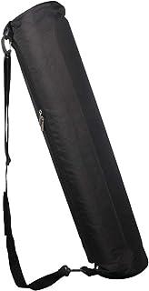 CLISPEED Waterproof Yoga Mat Bag Yoga Carrier Backpack Storage Pockets Yoga Mat Carrier (Black)