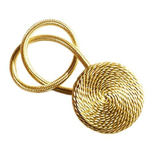 HJCWL 1 stuks magnetisch flanel Rond gordijn Tiebacks Tiebacks Holdbacks Ringgesp Clips Accessoire Gordijnroeden Decoratie Accessoires, Goud