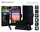 Huawei Ascend Y550 - Carbon Fibre Effect Folio Card Slot