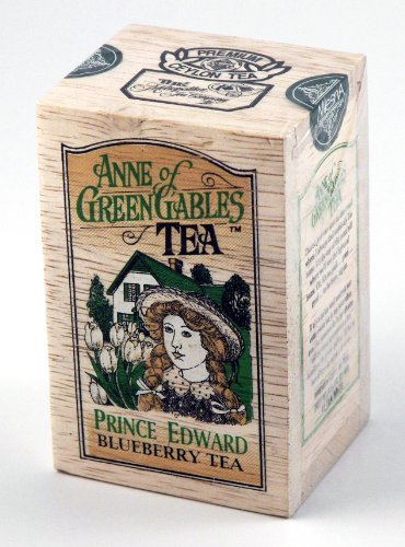 Anne of Green Gables Theme Prince Edward Blueberry Flavored Ceylon Black Tea, 25 Bags in Decorative Wood Crate - SALE by Metropolitan Tea Co.